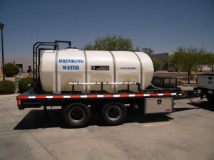 Potable emergency water storage tanks